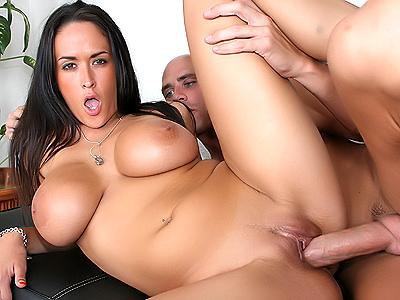 Hot pornstar Carmella Bing savors a big cock!!