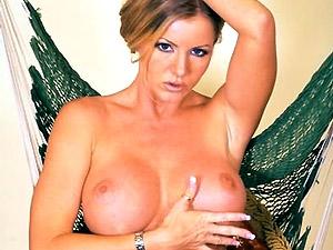Busty Blonde Porn Star Masturbates
